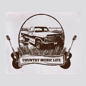 CML Trucks  Guitars Throw Blanket